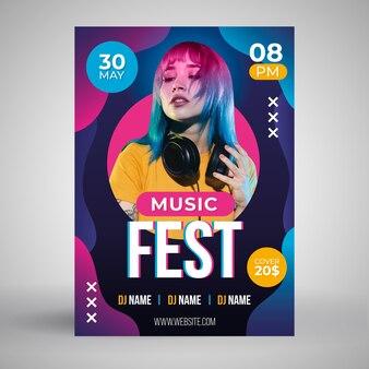 Абстрактная музыка плакат концепция