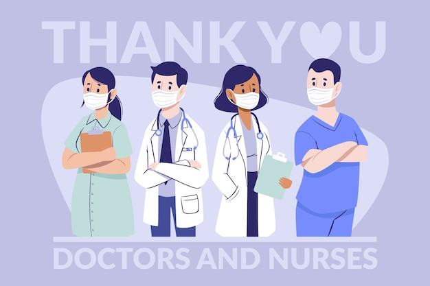 医師と看護師に感謝