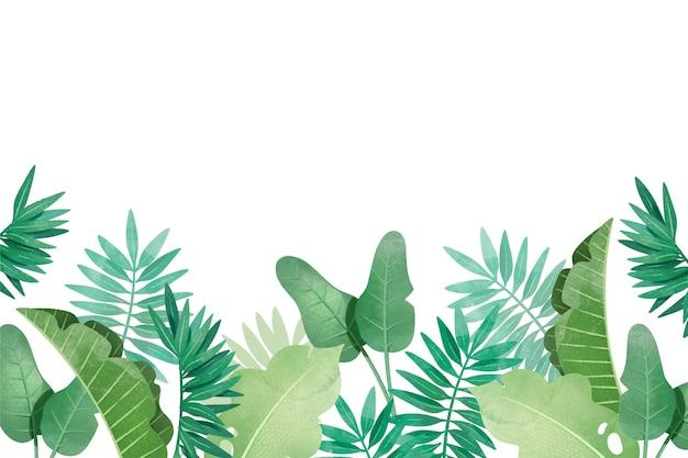 Тропический фон с разными листьями