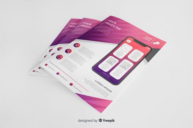 Флаер для мобильных приложений