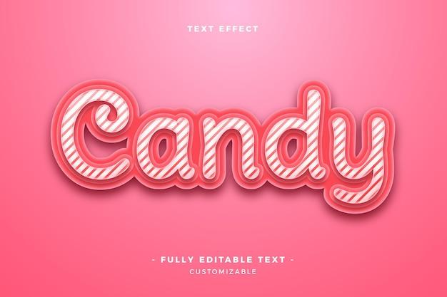 Симпатичный текстовый эффект конфеты