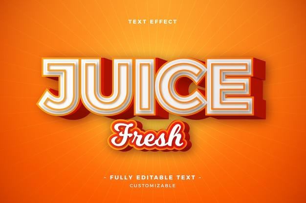 Сок свежий текстовый эффект