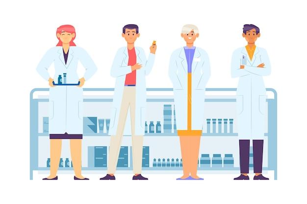 Коллекция профессии фармацевта
