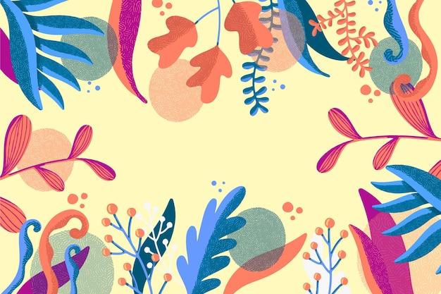 抽象的なエキゾチックな夏の葉の背景