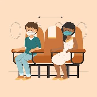 乗客間の社会的距離