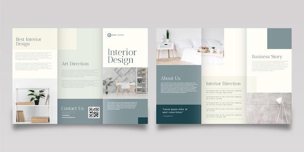 Абстрактный шаблон брошюры с фотографией