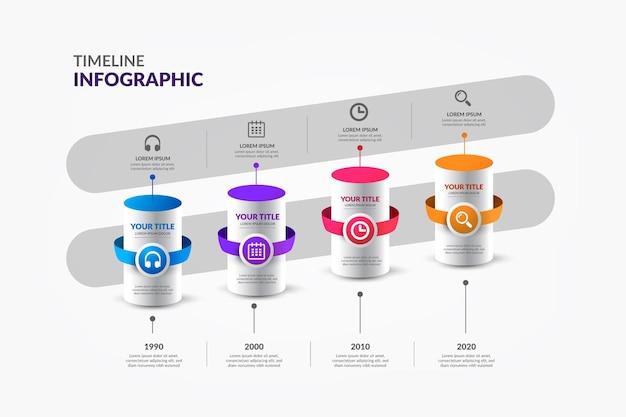 Красочные сроки инфографики