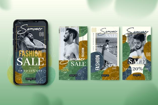 ファッション販売スマートフォン画面