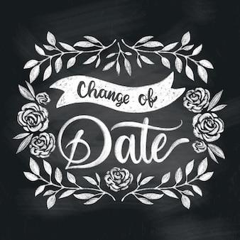 手描き延期された結婚式のコンセプト