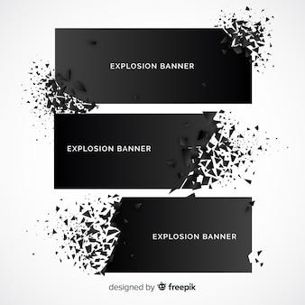 爆発バナーコレクション