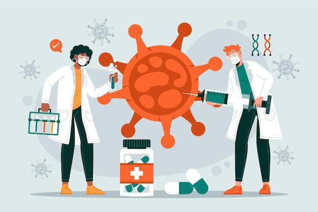 コロナウイルスワクチン開発