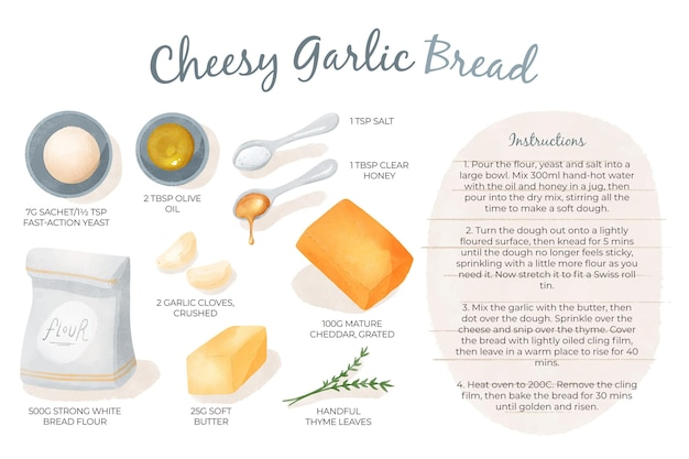自家製安っぽいガーリックブレッドのレシピ