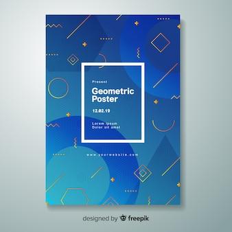 Постер с геометрическим градиентом