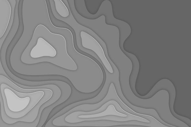 灰色の地形図の背景