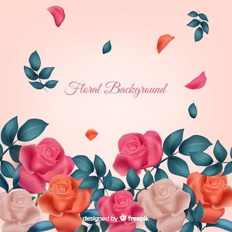 リアルな花の背景