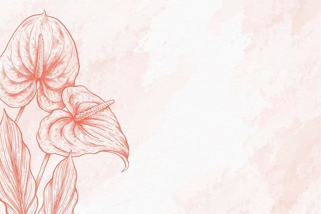 葉パウダーパステル手描きの背景