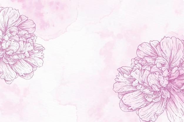 紫色の粉末パステル手描きの背景
