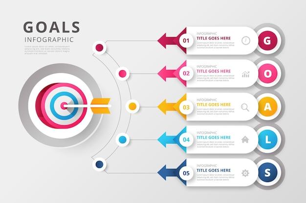 Цели инфографики шаблон