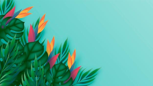 ズームの熱帯の花背景