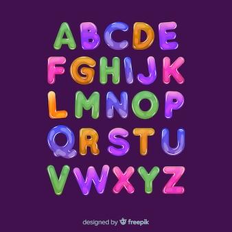 多色アルファベット