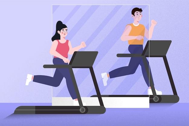 Социальная дистанция в спортзале