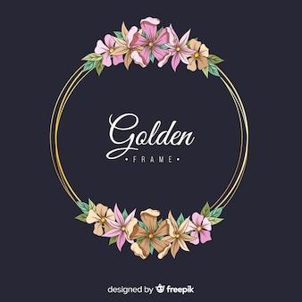 黄金の花のフレーム