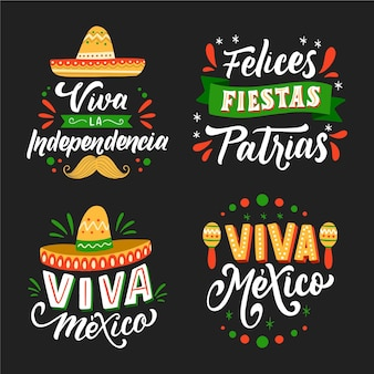 メキシコのレタリングバッジの独立性