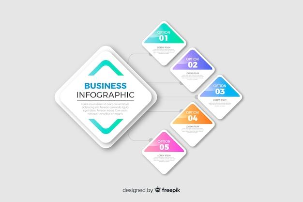 ビジネスインフォグラフィックテンプレート