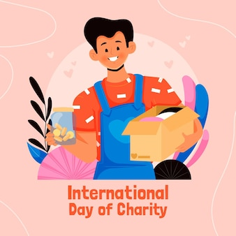 Ручной обращается международный день благотворительности фон