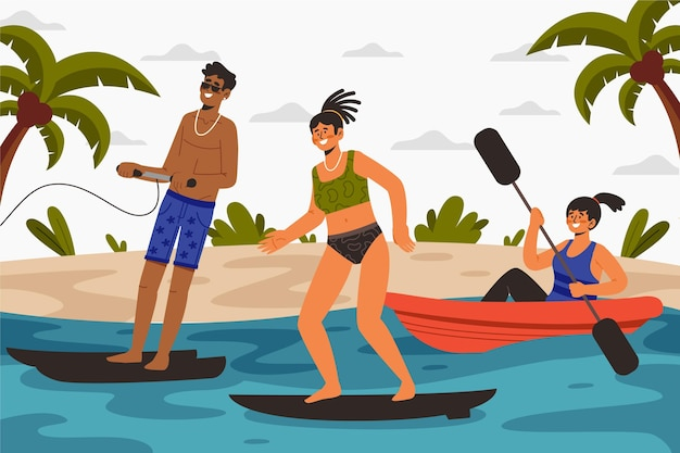 夏のスポーツコンセプト