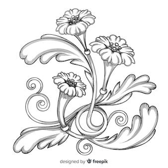 Барочный винтажный цветок