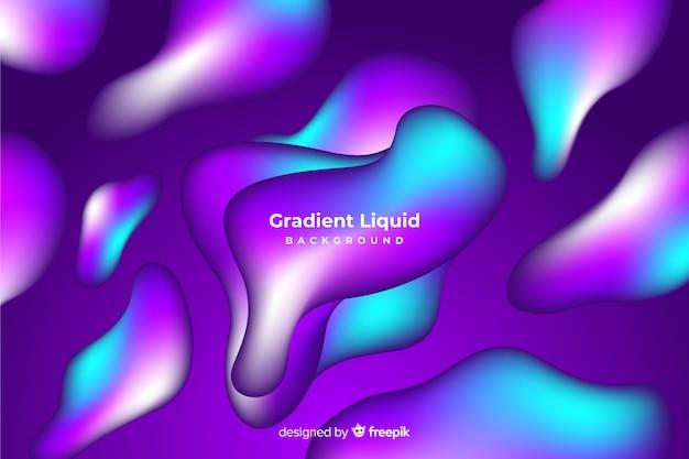 グラデーション流体図形の背景