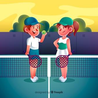 Теннисисты