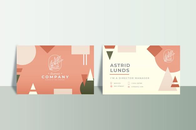 Абстрактная концепция визитных карточек