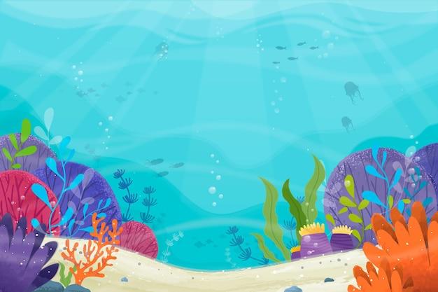 Под морем фон для видеоконференций