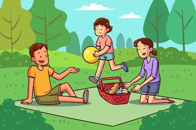 夏の野外活動