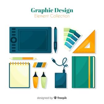 グラフィックデザインエレメントコレクション