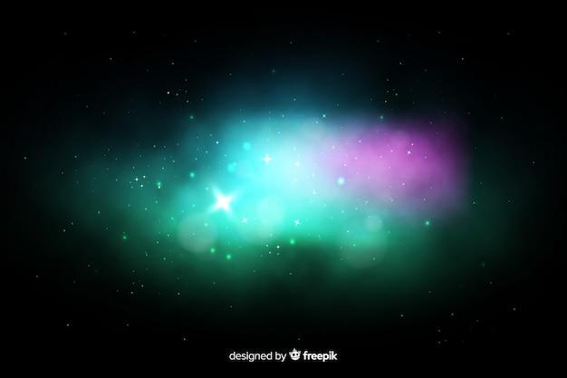 カラフルな星雲銀河の背景