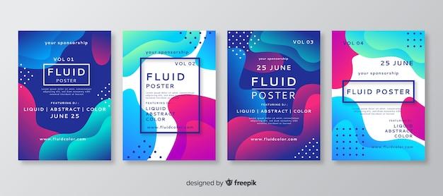 流体形状のポスターテンプレート