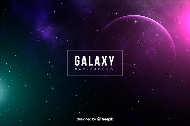 暗い現実的な銀河の背景