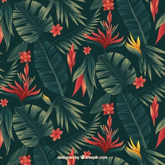 熱帯の花の模様