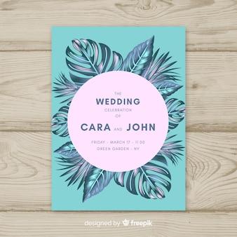 熱帯の結婚式の招待状
