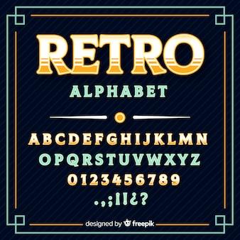 レトロなアルファベット