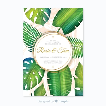 Приглашение на тропическую свадьбу
