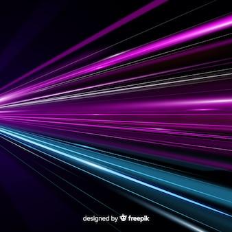 カラフルな光の道の背景