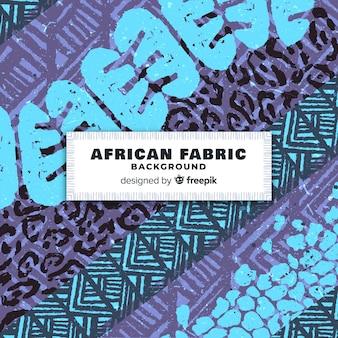 伝統的なアフリカの布地プリントの背景