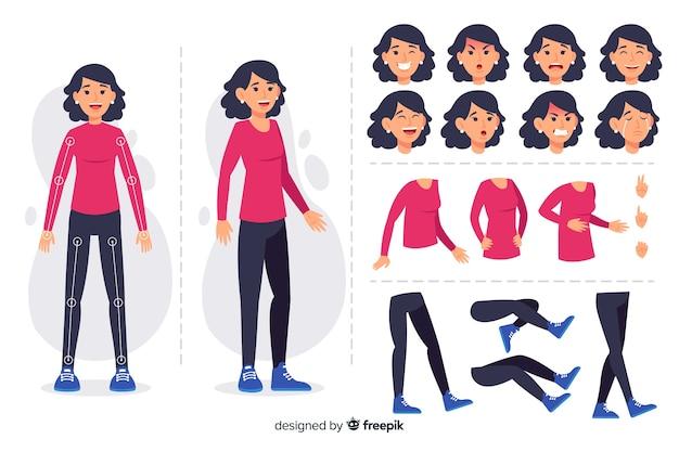 モーションデザインのための漫画のキャラクター