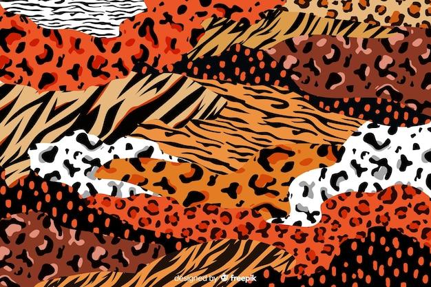 アフリカの動物プリントの背景