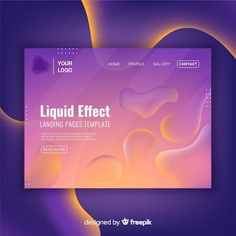 液体効果ランディングページ