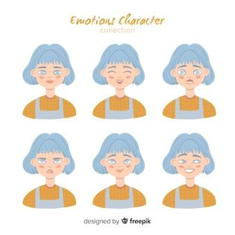 感情を表すキャラクター